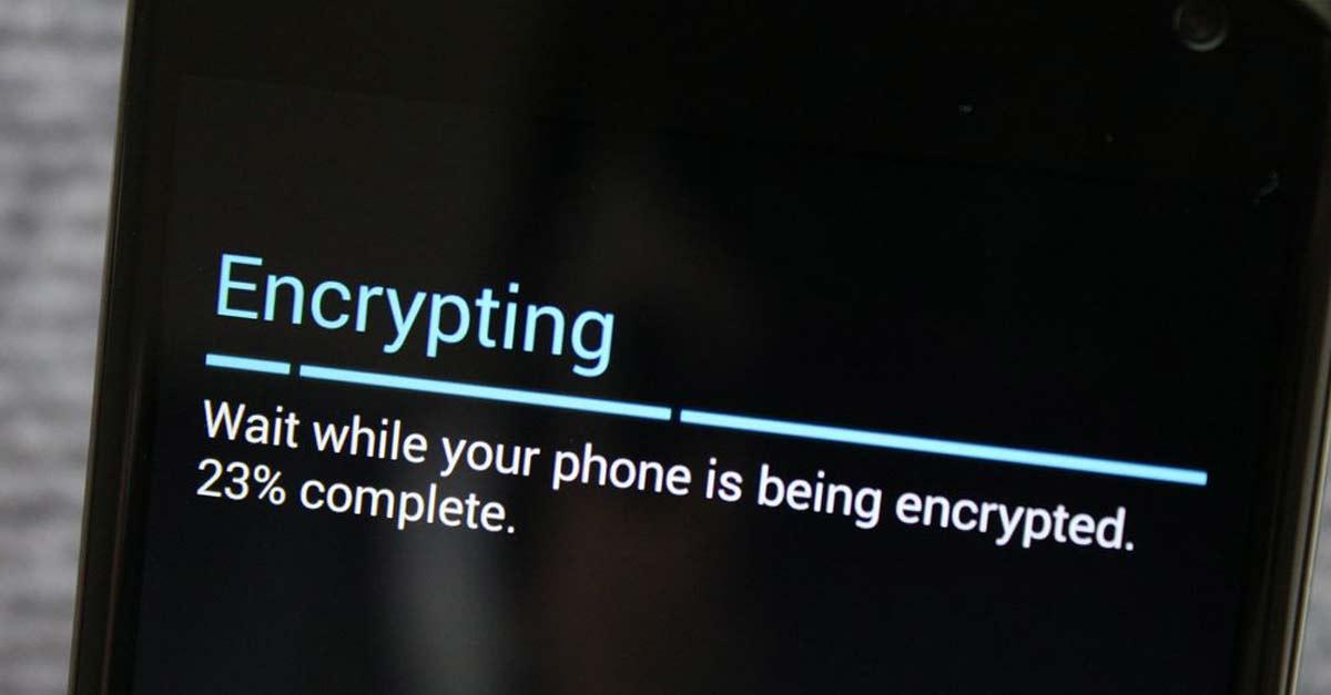 Encryption Storage ទូរស័ព្ទស្មាតហ្វូន (Smartphone)។