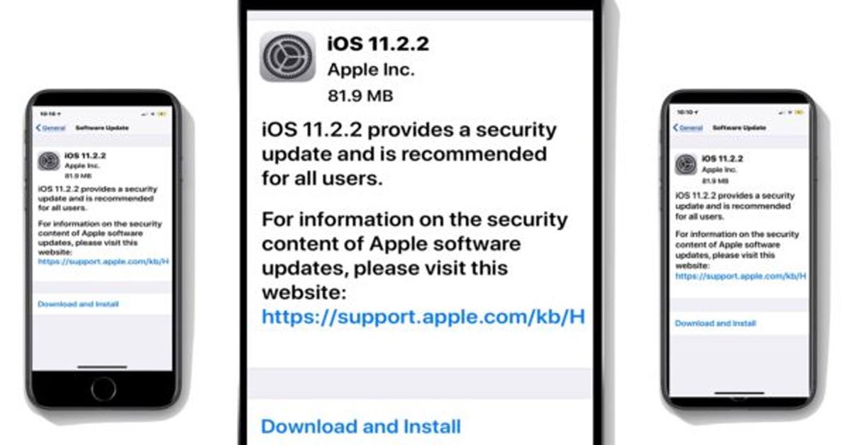 ទាញយកកំណែ iOS 11.2.2 សម្រាប់ iPhone or iPad។