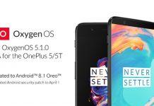 កំណែប្រព័ន្ធប្រតិបត្តិការជំនាន់ Android 8.1 ឬ Oxygen OS 5.1.0 ជាផ្លូវការសម្រាប់ទូរស័ព្ទ OnePlus 5 និង OnePlus 5T។