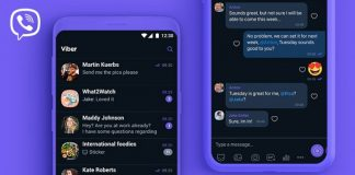 Dark Mode featue of Viber